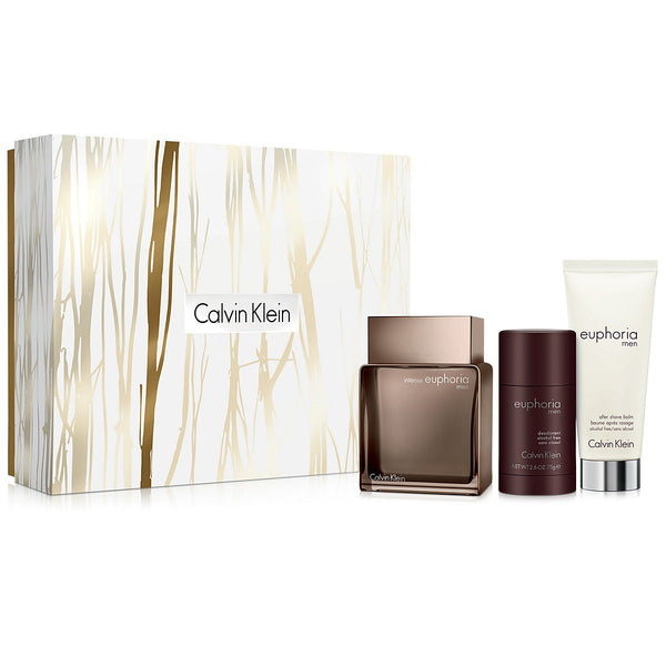 Euphoria Intense by Calvin Klein 100ml EDT 3 Piece Gift Set