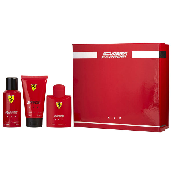 Ferrari Scuderia Red by Ferrari 125ml EDT 3 Piece Gift Set