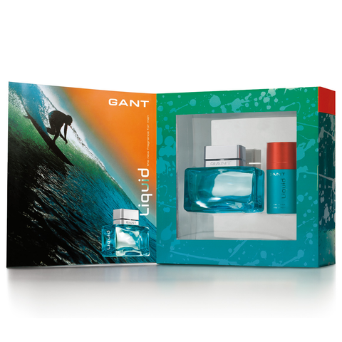 Gant Liquid by Gant 50ml EDT 2 Piece Gift Set