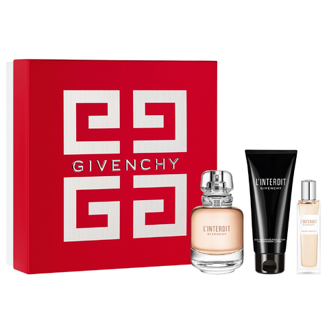 L'Interdit by Givenchy 80ml EDT 3 Piece Gift Set