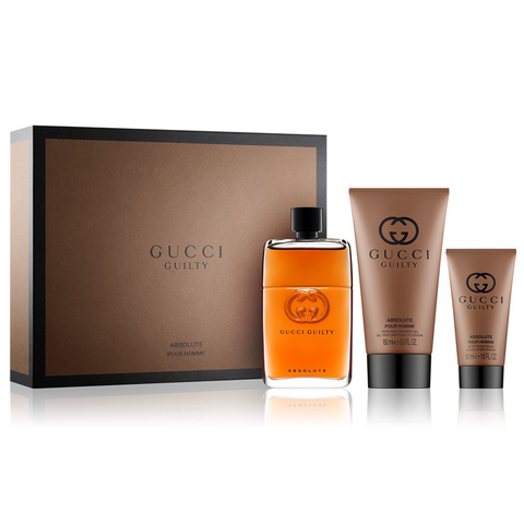 Gucci Guilty Absolute by Gucci 90ml EDP 3 Piece Gift Set