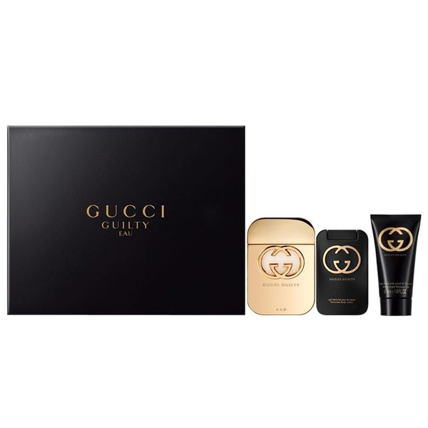 Gucci Guilty Eau by Gucci 75ml EDT 3 Piece Gift Set