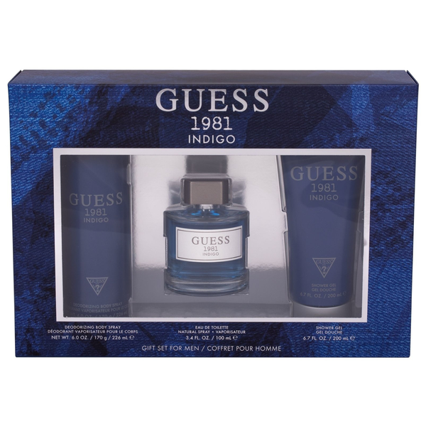 Guess 1981 Indigo by Guess 100ml EDT 3 Piece Gift Set