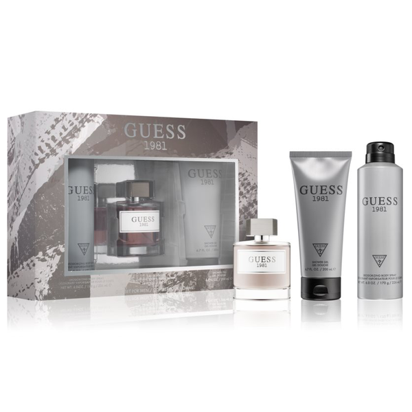 Guess 1981 by Guess 100ml EDT 3 Piece Gift Set for Men