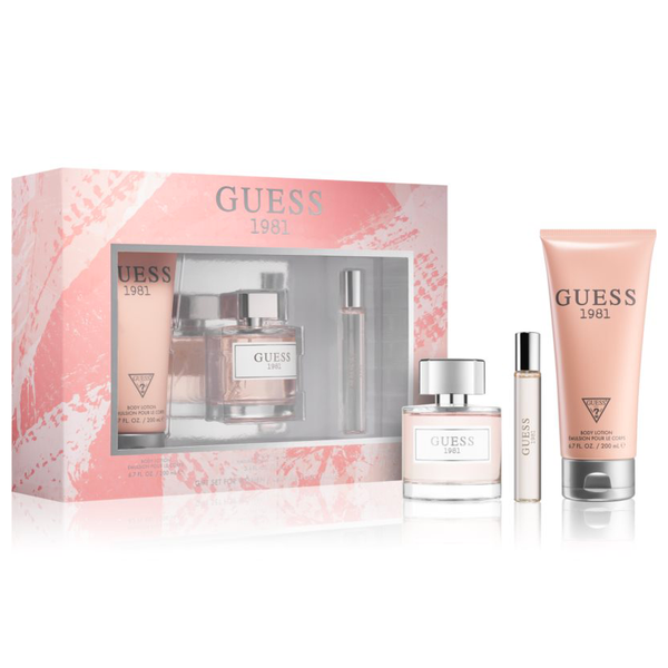 Guess 1981 by Guess 100ml EDT 3 Piece Gift Set for Women