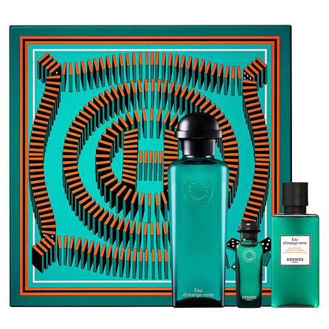 Eau d'Orange Verte by Hermes 100ml EDC 3 Piece Gift Set