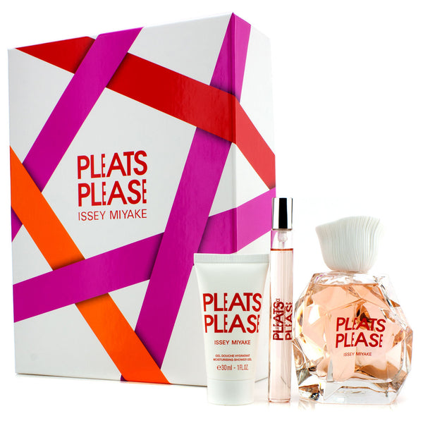 Pleats Please by Issey Miyake 100ml EDT 3 Piece Gift Set
