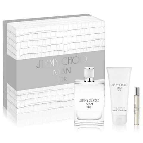Jimmy Choo Man Ice by Jimmy Choo 100ml EDT 3 Piece Gift Set