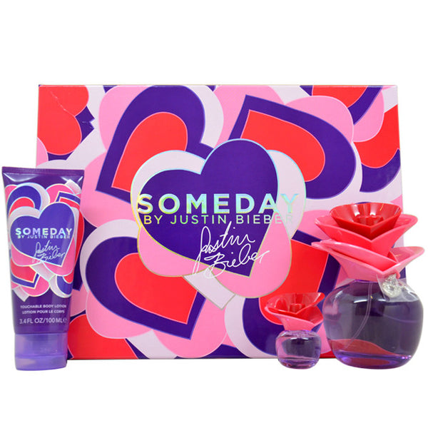 Someday by Justin Bieber 100ml EDP 3 Piece Gift Set