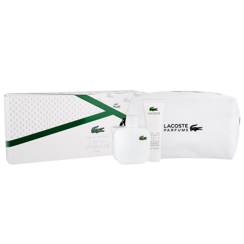 Eau De Lacoste L12.12 Blanc 100ml EDT 3 Piece Gift Set