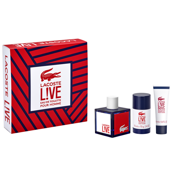 LIVE by Lacoste 100ml EDT 3 Piece Gift Set