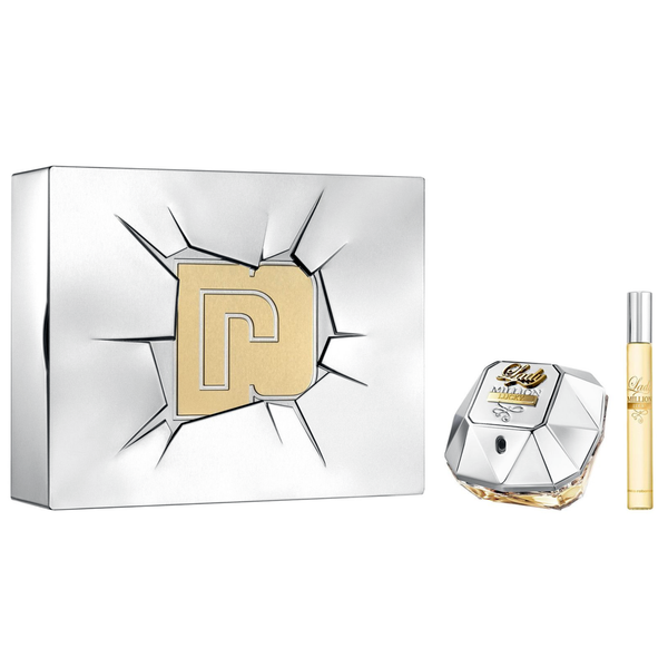 Lady Million Lucky by Paco Rabanne 80ml EDP 2pc Gift Set