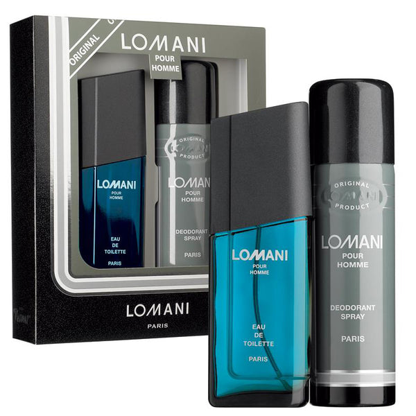 Lomani Pour Homme by Lomani 100ml EDT 2 Piece Gift Set
