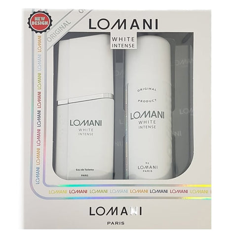 Lomani White Intense by Lomani 100ml EDT 2pc Gift Set