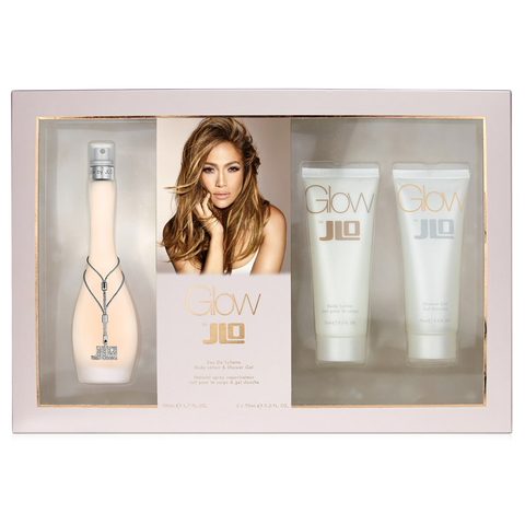 Glow by Jennifer Lopez 100ml EDT 3 Piece Gift Set