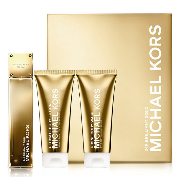 24K Brilliant Gold by Michael Kors 100ml EDP 3 Piece Gift Set
