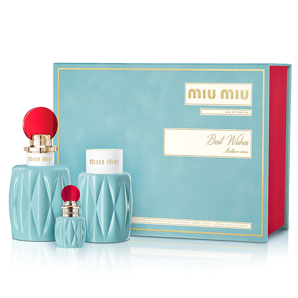 Miu Miu by Miuccia Prada 100ml EDP 3 Piece Gift Set