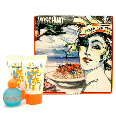 I Love Love by Moschino 4.9ml EDT 3 Piece Gift Set