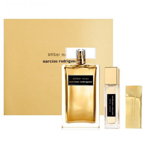 Amber Musc by Narciso Rodriguez 100ml EDP 3 Piece Gift Set