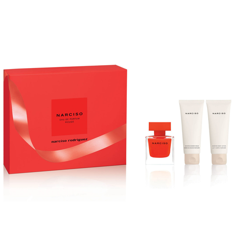 Narciso Rouge by Narciso Rodriguez 50ml EDP 3pc Gift Set