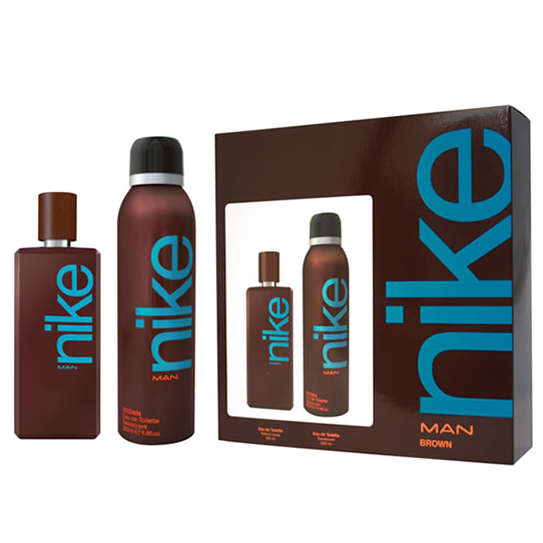 Nike Man Brown by Nike 100ml EDT 2 Piece Gift Set