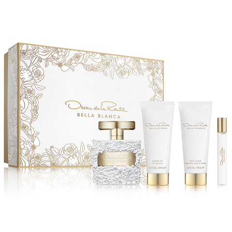 Bella Blanca by Oscar De La Renta 100ml EDP 4 Piece Gift Set