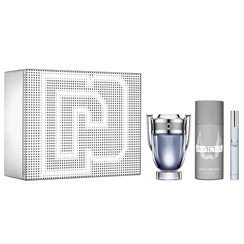 Invictus by Paco Rabanne 100ml EDT 3 Piece Gift Set
