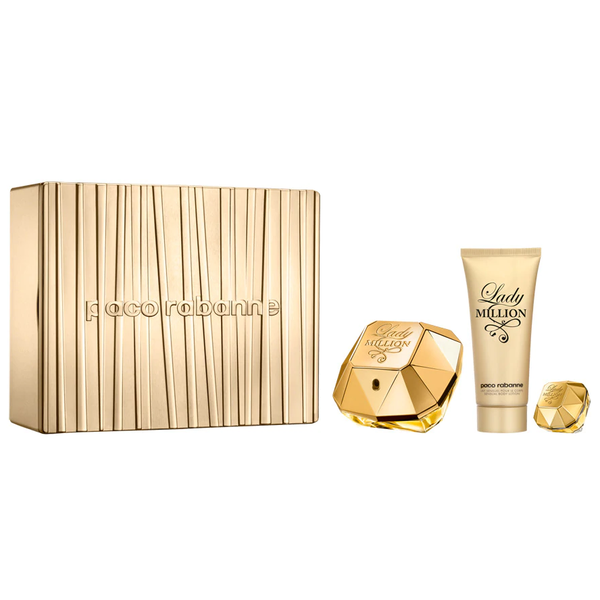 Lady Million by Paco Rabanne 80ml EDP 3 Piece Gift Set