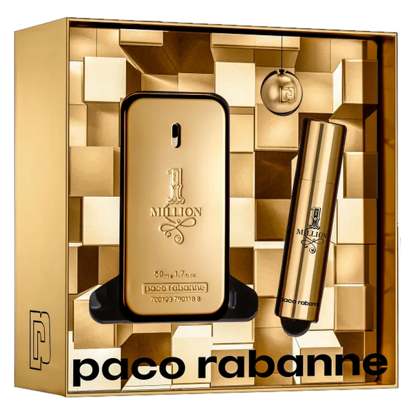One Million by Paco Rabanne 50ml EDT 3 Piece Gift Set