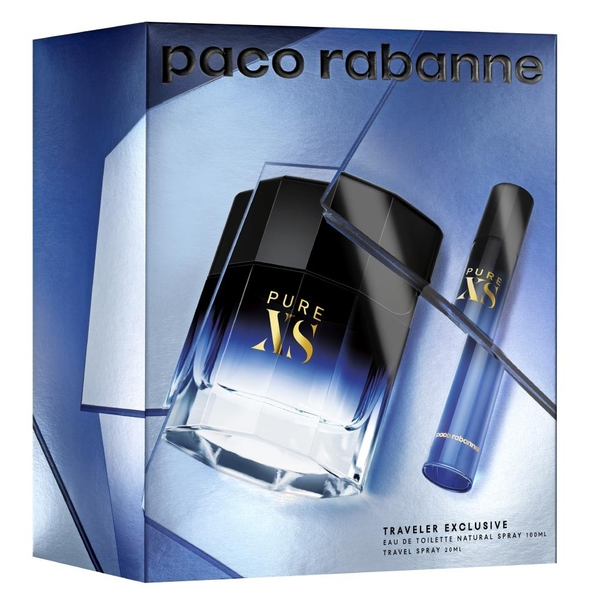 Pure XS by Paco Rabanne 100ml EDT 2 Piece Gift Set