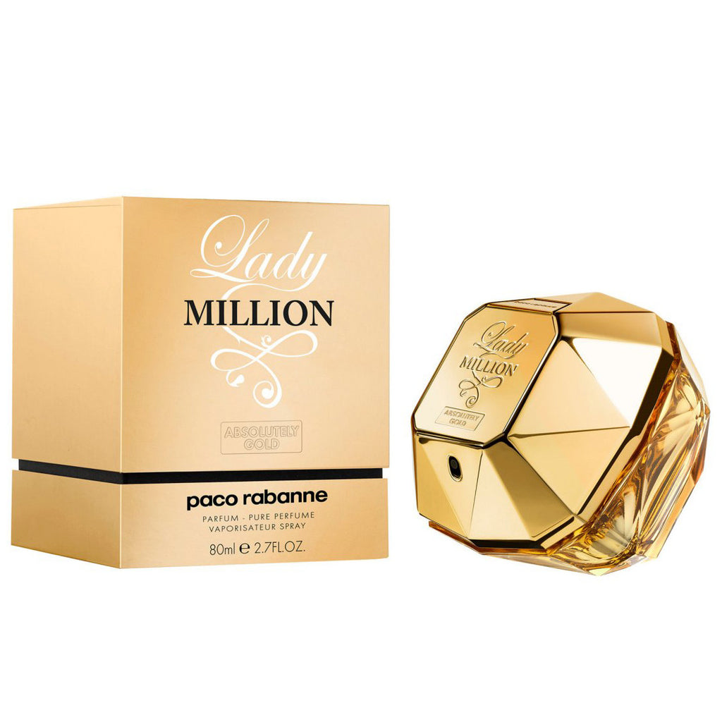 Lady Million Absolutely Gold 80ml Pure Perfume Perfume Nz