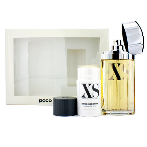XS by Paco Rabanne 100ml EDT 2 Piece Gift Set