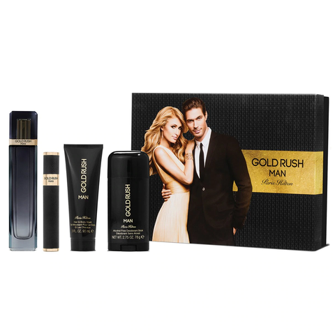 Gold Rush by Paris Hilton 100ml EDT 4 Piece Gift Set