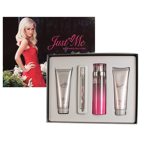 Just Me by Paris Hilton 100ml EDP 4 Piece Gift Set