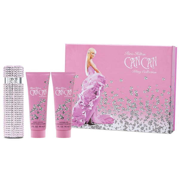 Can Can Bling Collection by Paris Hilton 100ml Parfum 3pc Gift Set