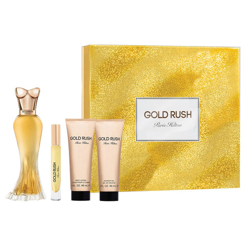 Gold Rush by Paris Hilton 100ml EDP 4 Piece Gift Set