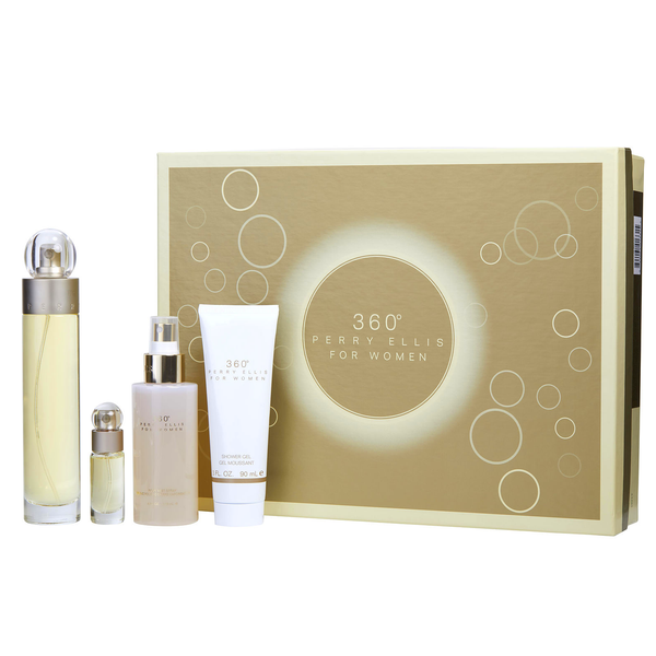360 by Perry Ellis 100ml EDT 4 Piece Gift Set