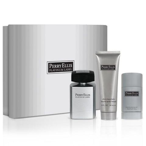 Perry Ellis Platinum 100ml EDT 3 Piece Gift Set
