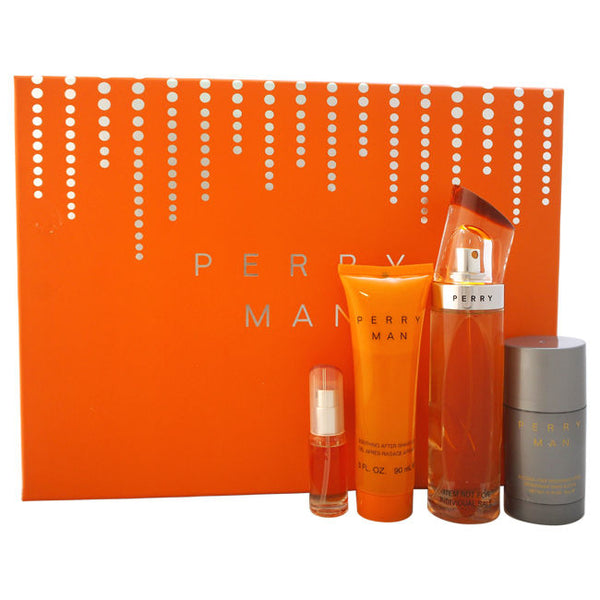 Perry Man by Perry Ellis 100ml EDT 4 Piece Gift Set