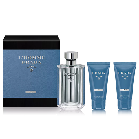 L'Homme Prada L'Eau by Prada 100ml EDT 3 Piece Gift Set