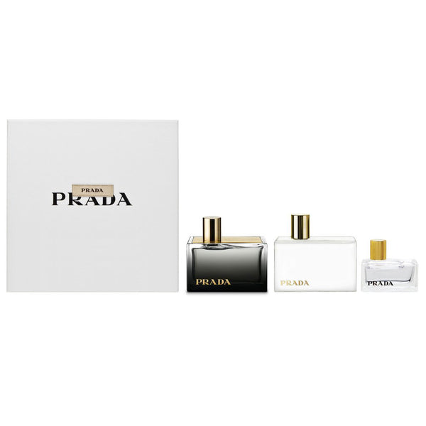 Prada L'eau Ambree by Prada 50ml EDP 3 Piece Gift Set