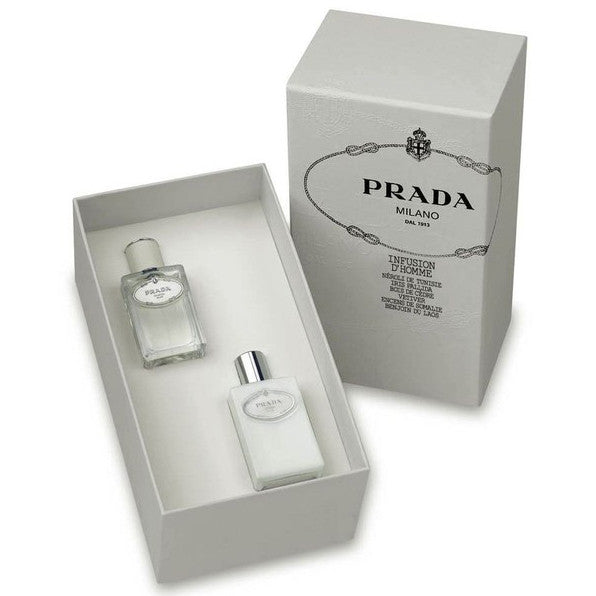 Prada Infusion D'Homme by Prada 100ml EDT 2 Piece Gift Set