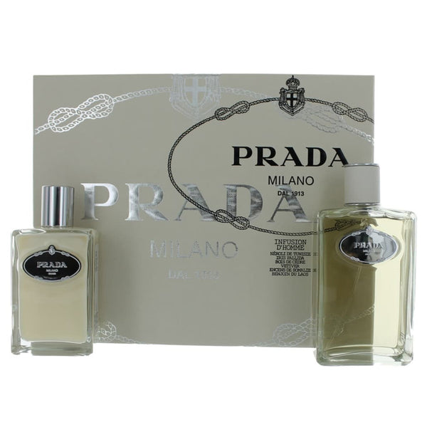 Prada Infusion D'Homme by Prada 200ml EDT 2 Piece Gift Set