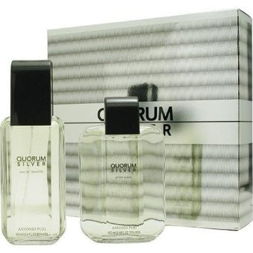Quorum Silver by Antonio Puig 100ml 2PC GIFT SET