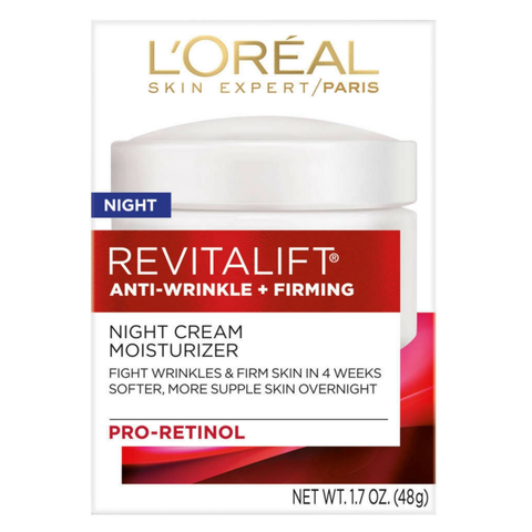 L'Oreal Paris Revitalift Anti-Wrinkle + Firming Night Cream 1.7 oz, 48g