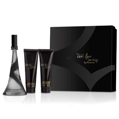 Reb'l Fleur Love Always by Rihanna 100ml EDP 3pc Gift Set