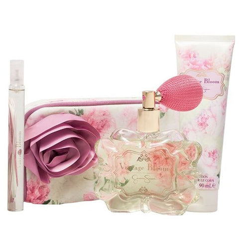 Vintage Bloom by Jessica Simpson 100ml EDP 4pc Gift Set