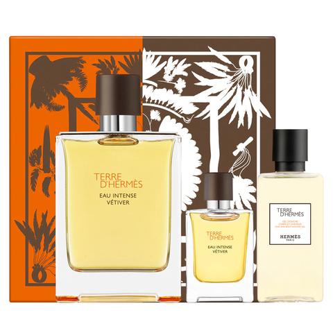 Terre D'Hermes Eau Intense Vetiver 100ml EDP 3pc Gift Set