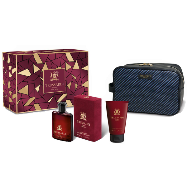 Trussardi Uomo The Red 100ml EDT 3 Piece Gift Set