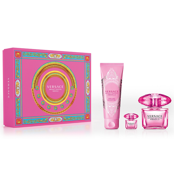 Versace Bright Crystal Absolu 90ml EDP 3 Piece Gift Set